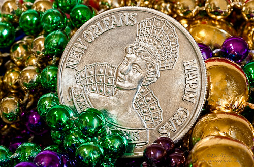 Mardi Gras Coin and Beads
