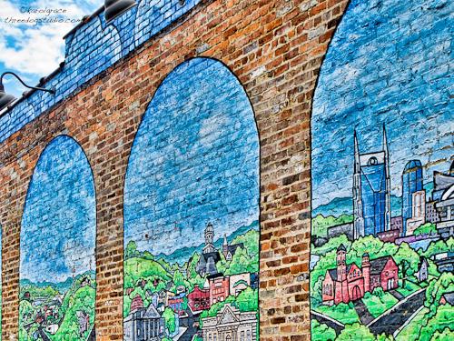 Brick wall mural lightdance for Brick wall mural